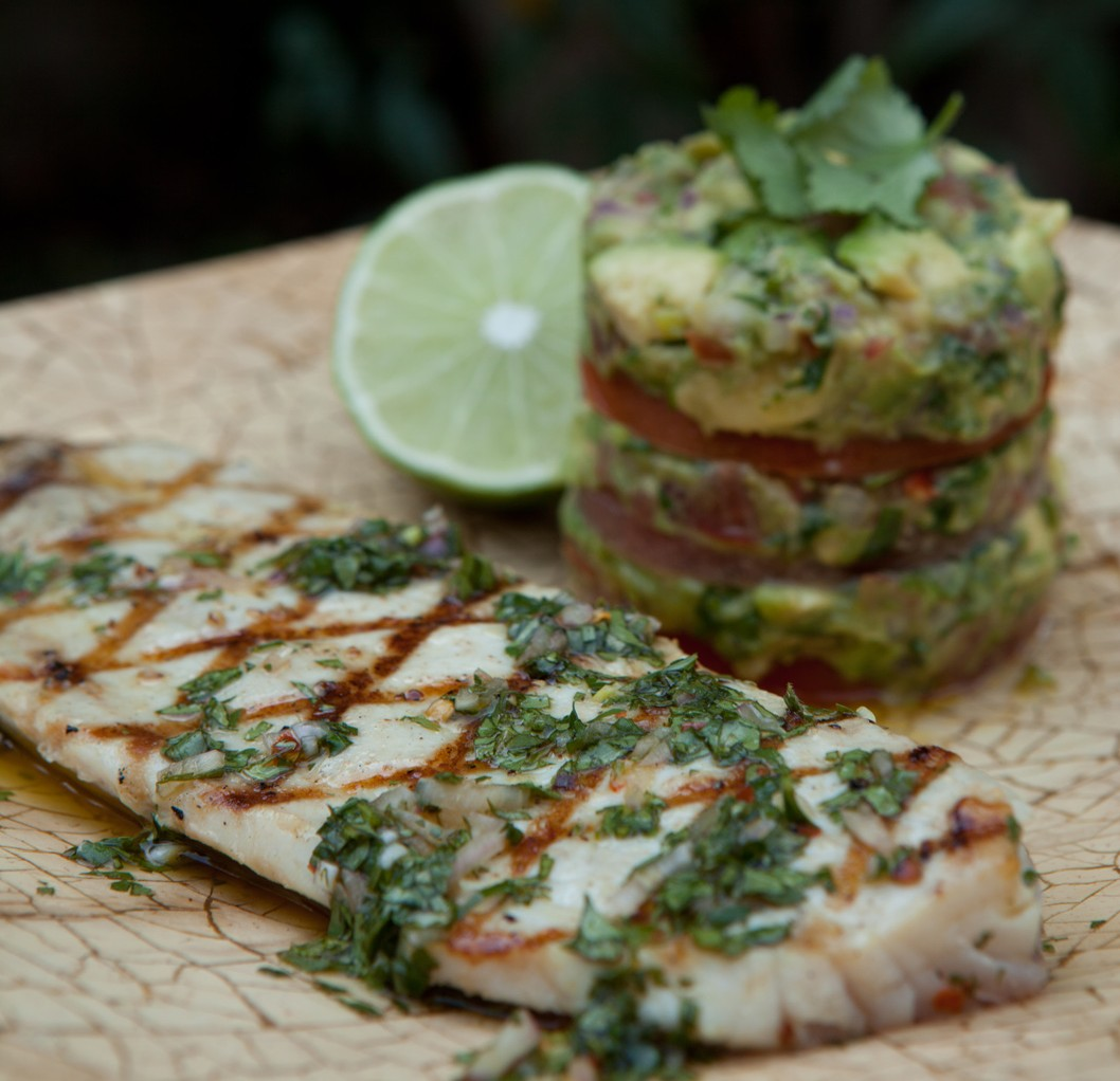 Trevally in Chimichurri Sauce